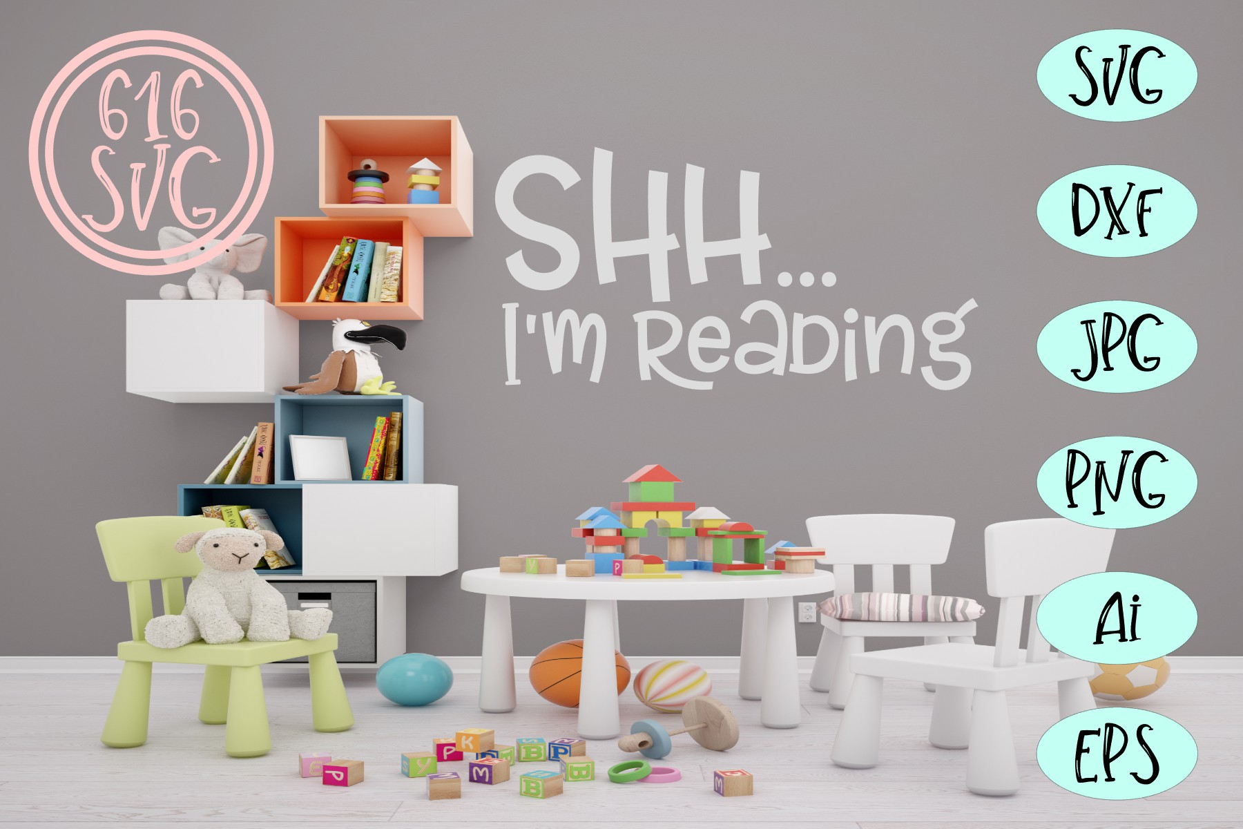 Childrens Library Bundle SVG, DXF, Ai, PNG example image 12