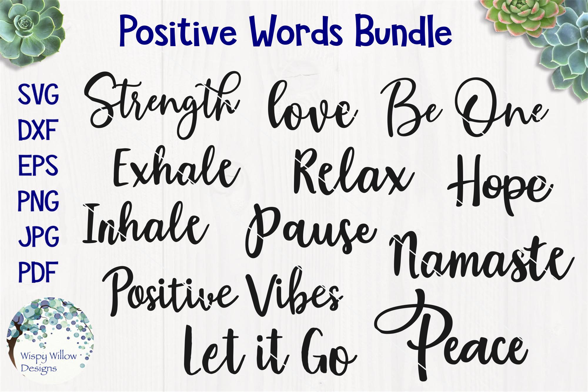 Positive Words Bundle example image 1