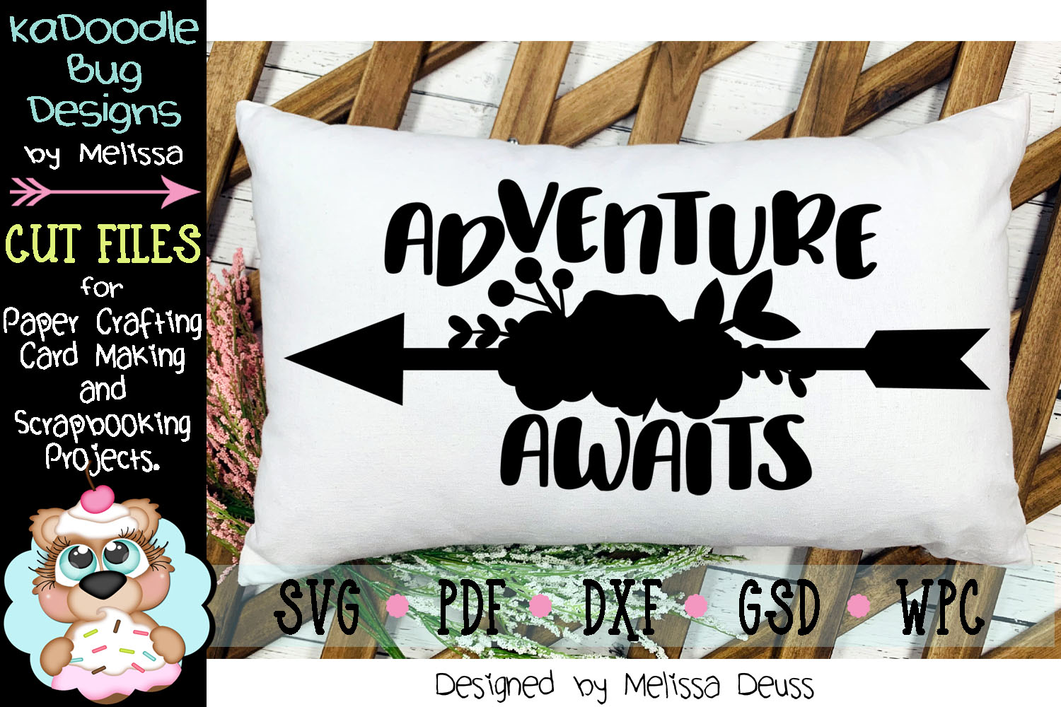 Adventure Awaits Cut File - SVG PDF DXF GSD WPC example image 1