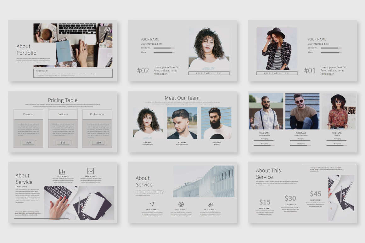 Shiroe Powerpoint Template example image 2