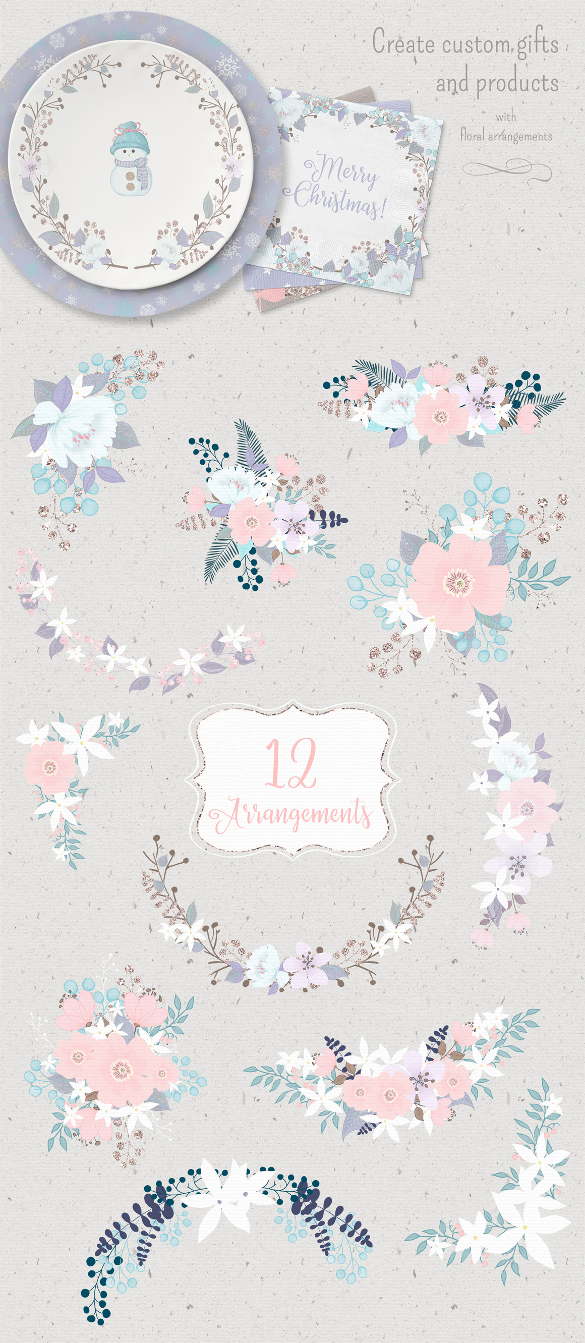 Winter Whimsy Clipart Collection example image 9