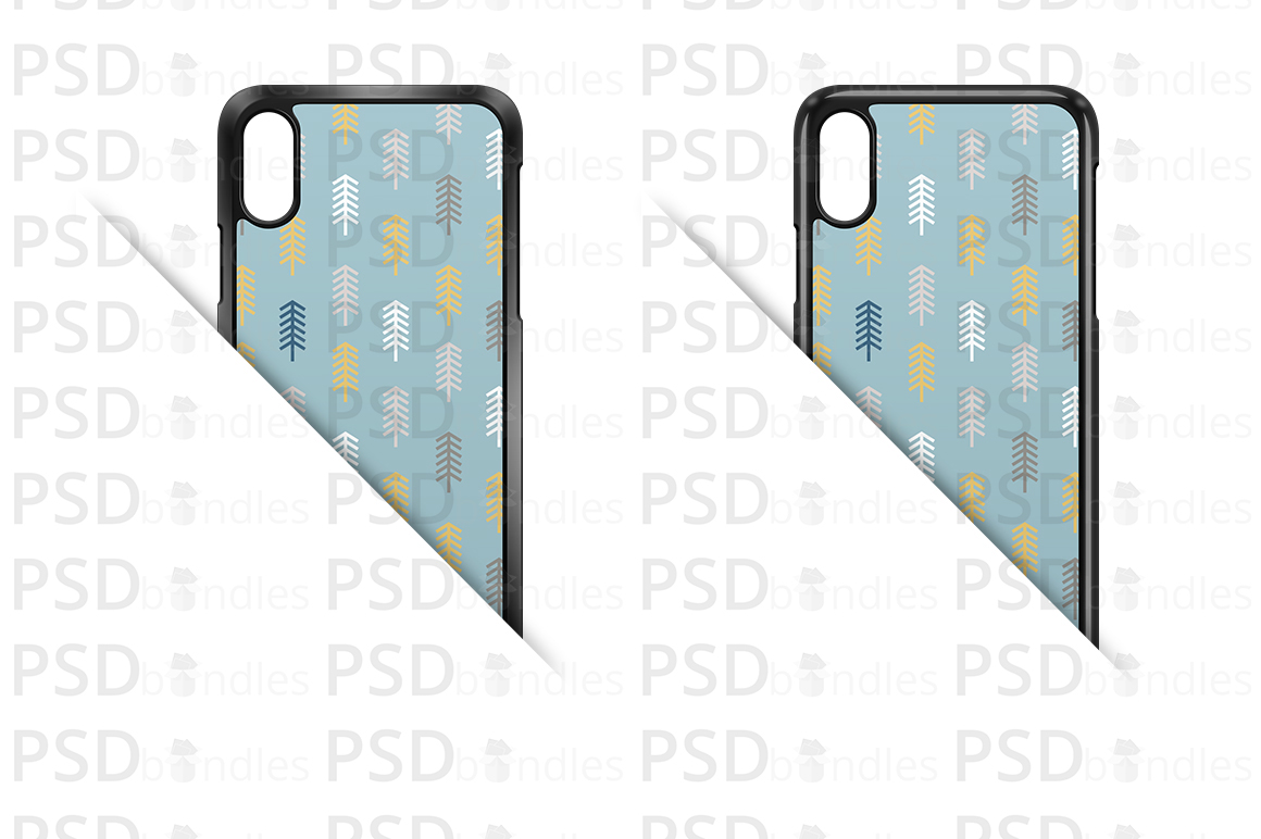 Apple iPhone XS MAX 2d Case Design Mock-up Back View example image 3