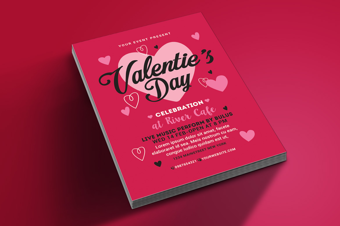 Valentines Day Flyer example image 3