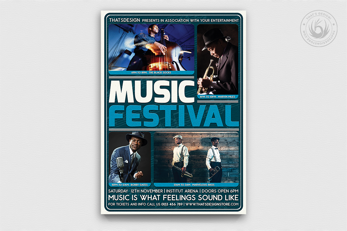 Music Festival Flyer Template V5 example image 1