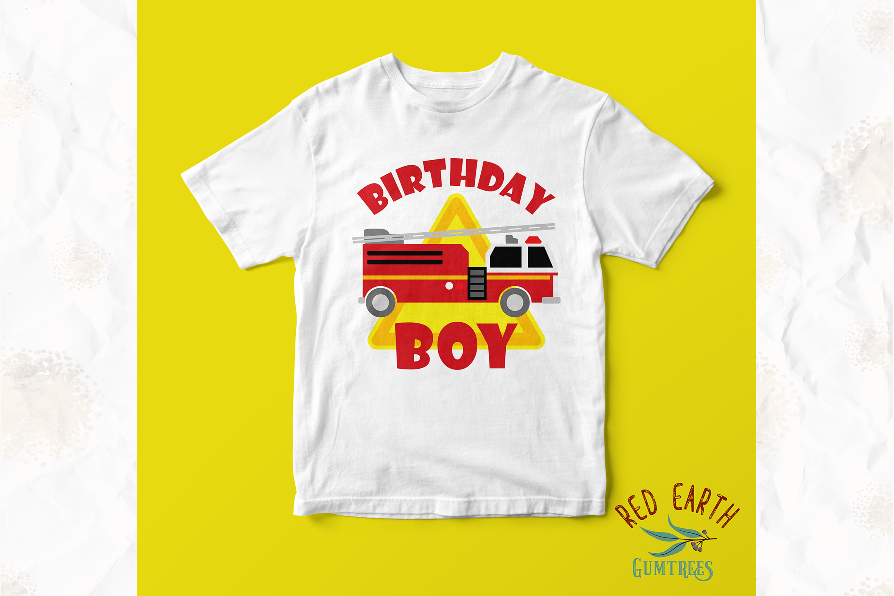 Fireman birthday theme, firefighter in SVG,DXF,PNG,EPS,PDF example image 4