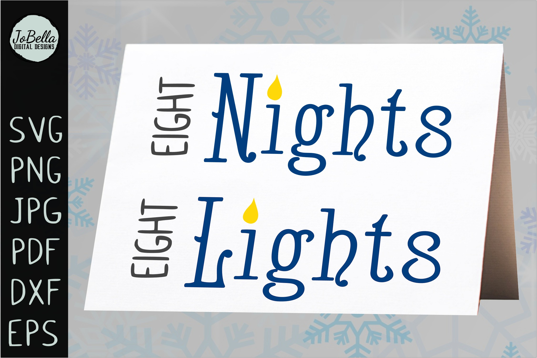 Eight Nights Hanukkah SVG, Printable and Sublimation PNG example image 4