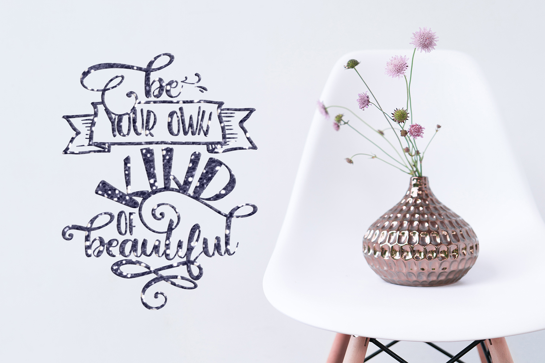 Inspirational Quote SVG Motivational Cut File Bundle Unicorn example image 4