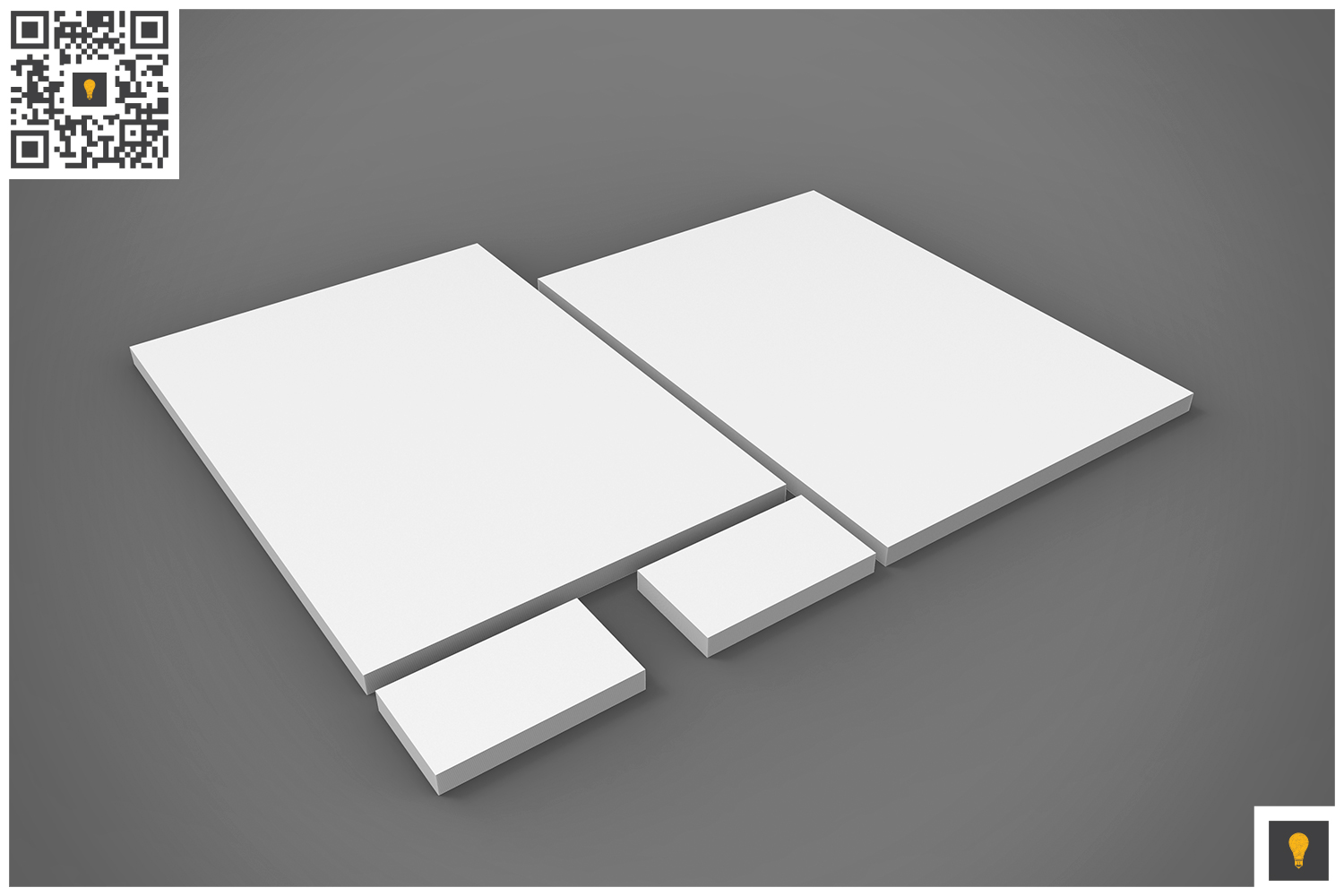 Branding Stationary 3D Render example image 18