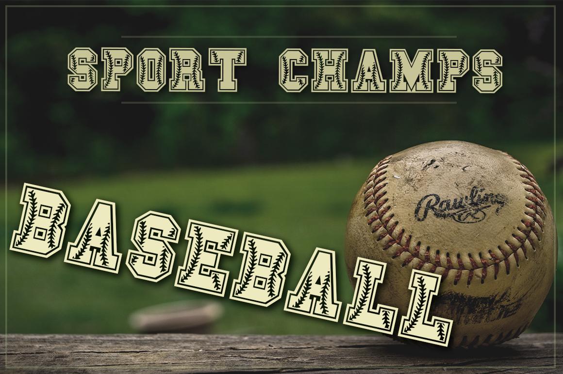 Baseball Font   Softball Font example image 1