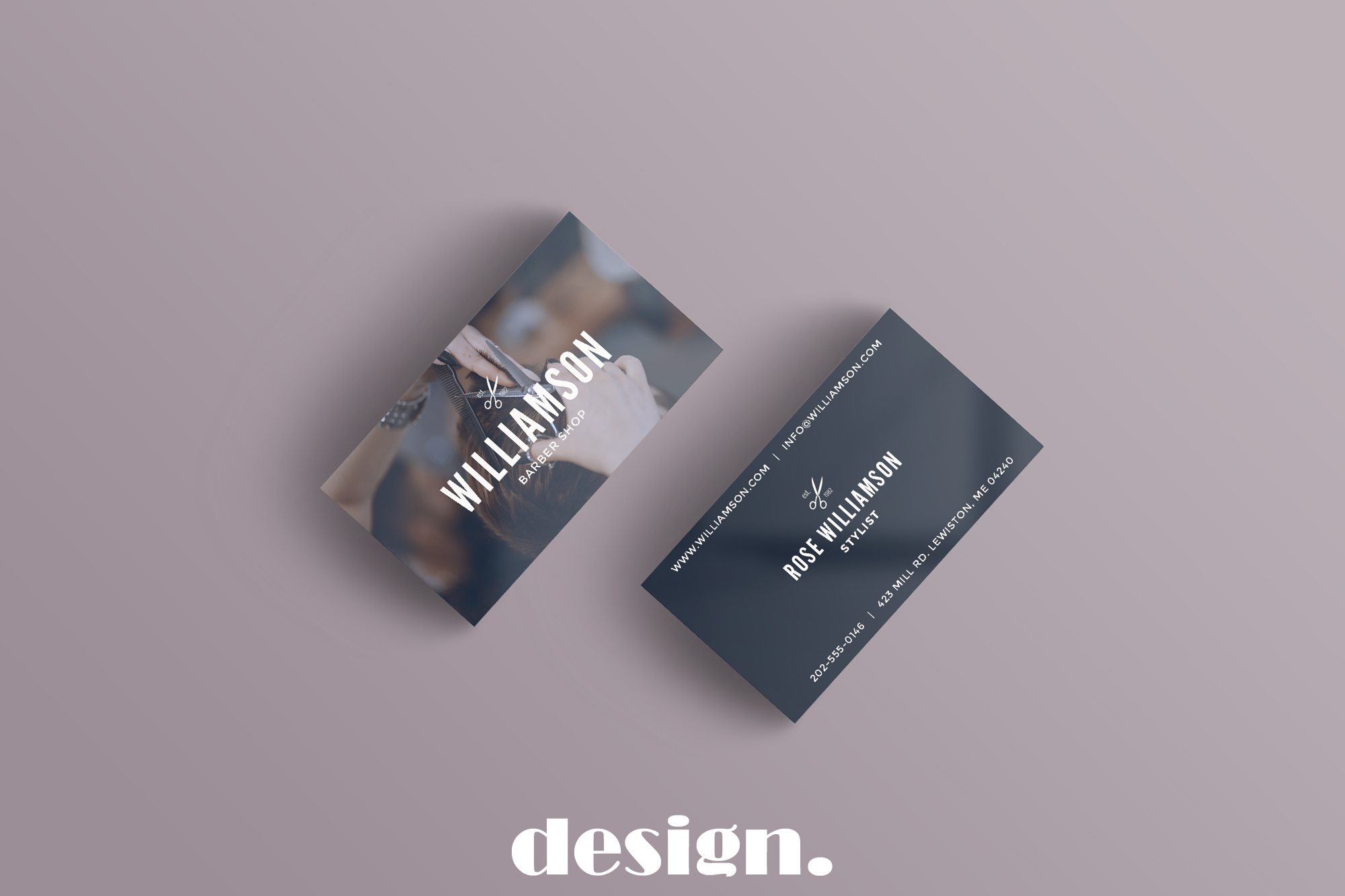 Barber Shop Business Card example image 2