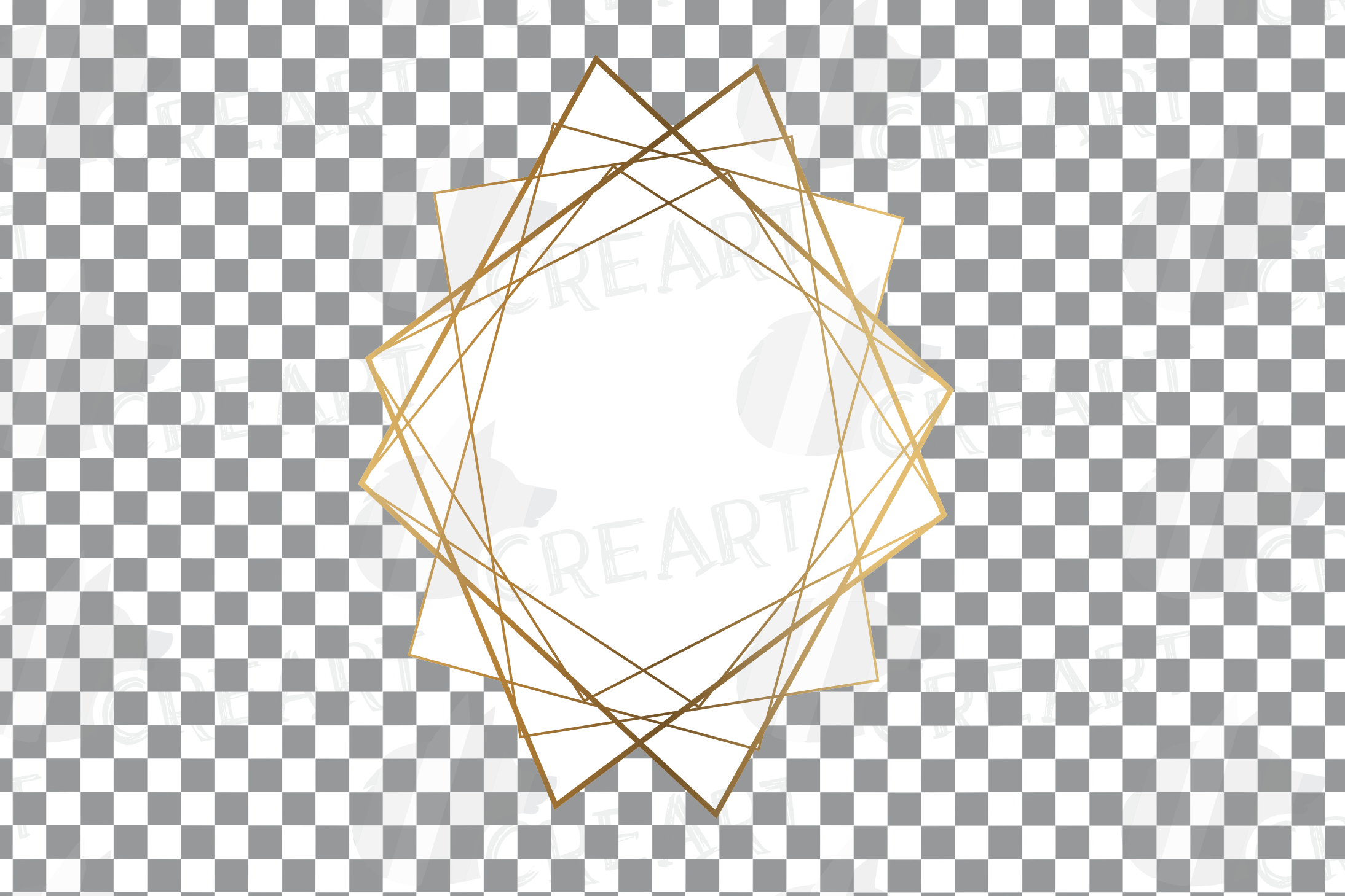Elegant wedding geometric golden frames, lineal frames svg example image 20