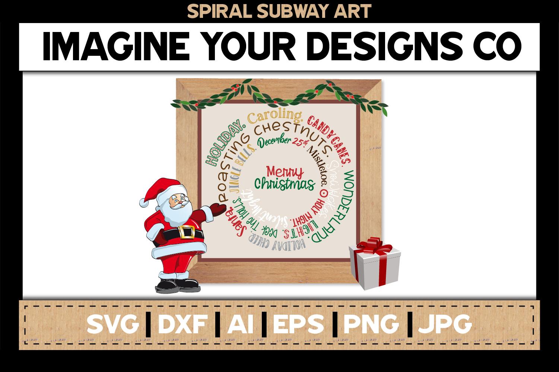 Spiral Subway Printable SVG Clipart Bundle example image 6