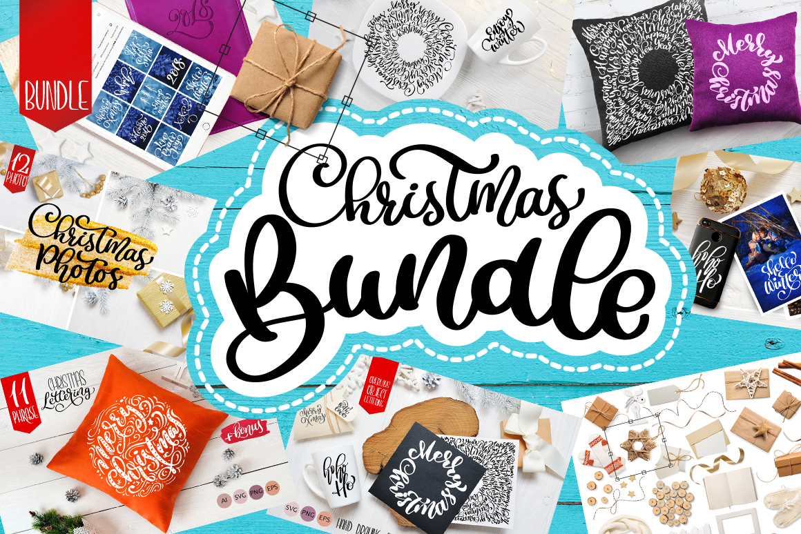 Christmas Bundle mockup example image 1
