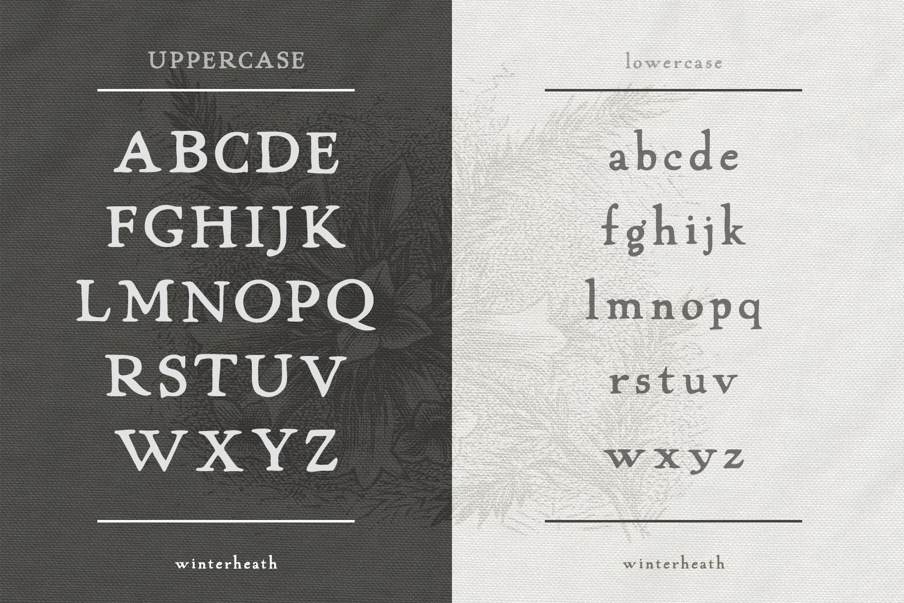 Winterheath Hand Drawn Serif Font example image 2