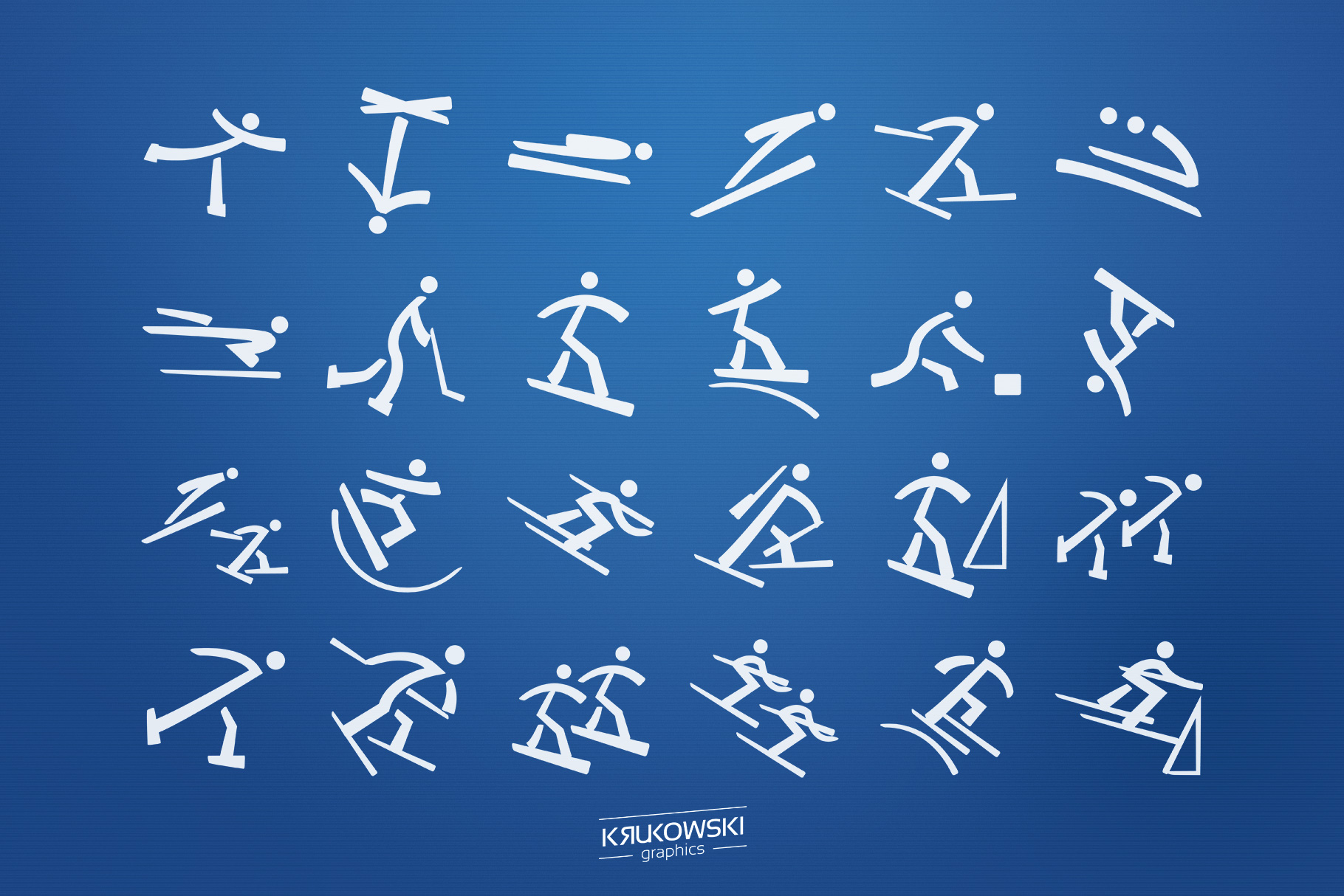 Winter Sports Pictograms Font example image 2