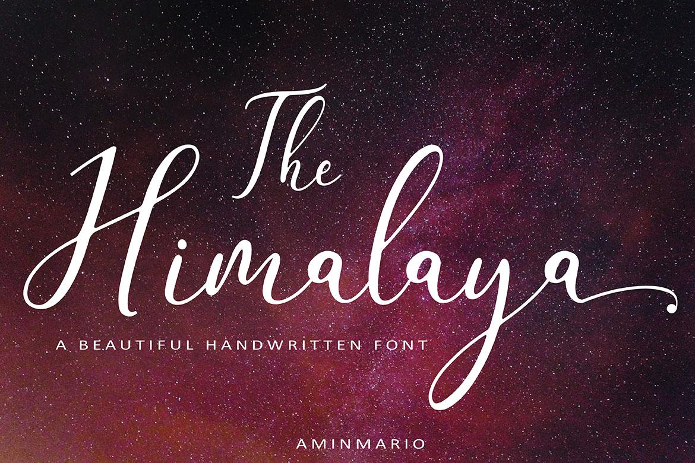 The Himalaya | beautiful handwriten example image 11