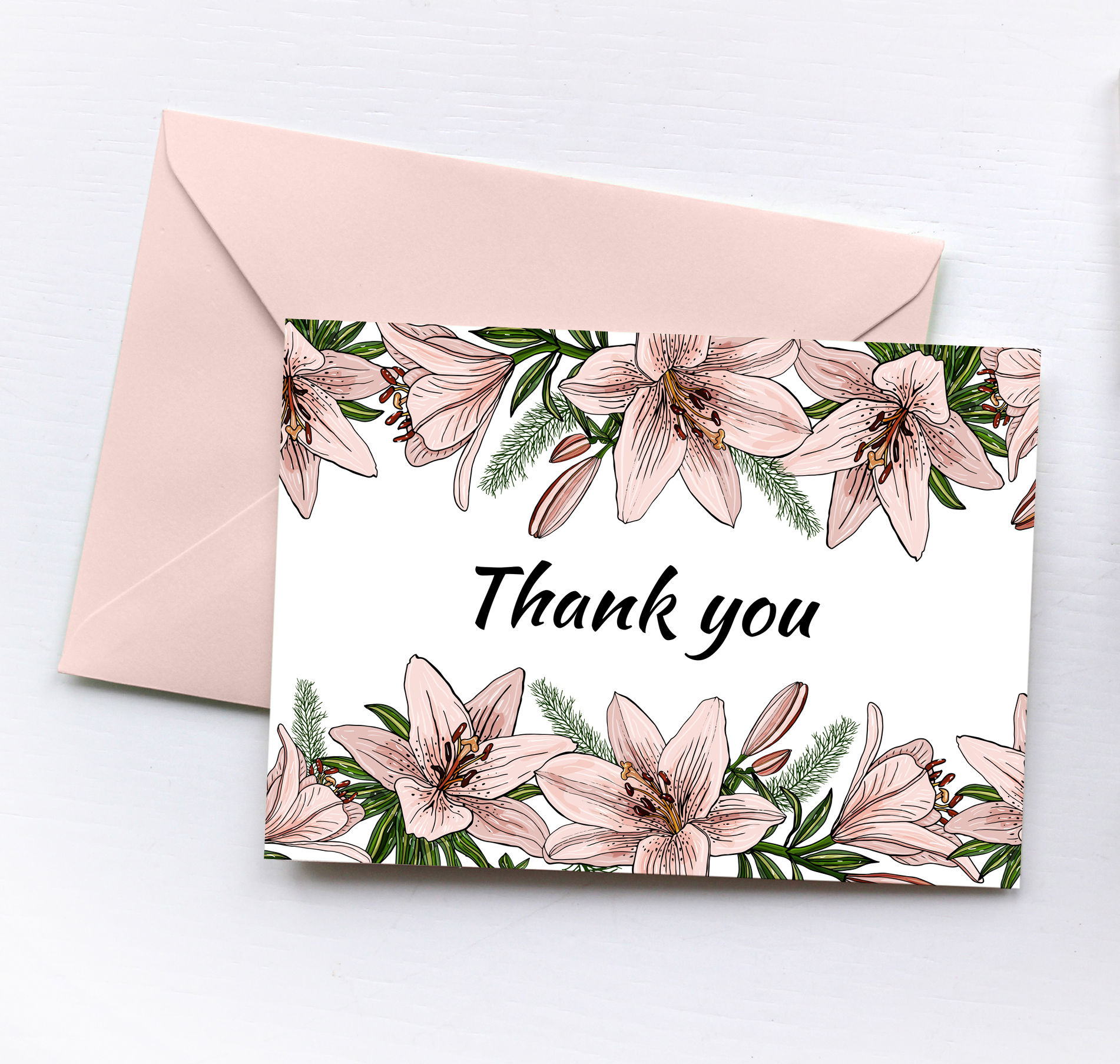 Design with lily flowers. Seamless patterns and postcards. example image 12