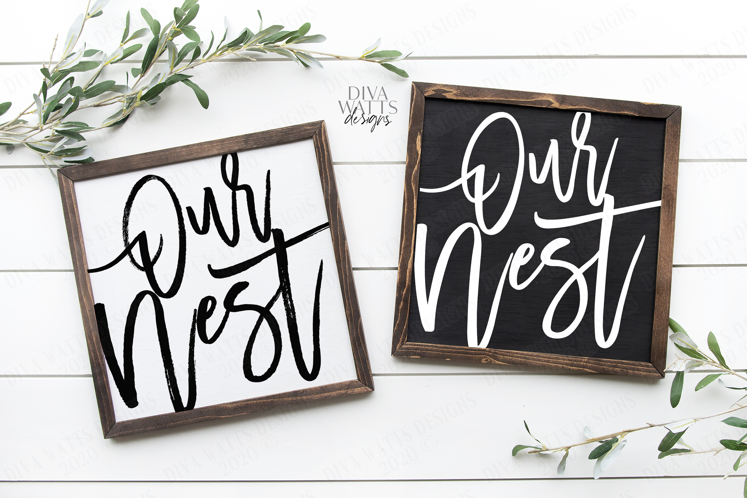 Our Nest - Clean & Rough - Oversized Modern Farmhouse SVG example image 1