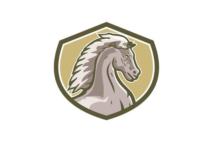 Colt Horse Head Side Shield Retro example image 1