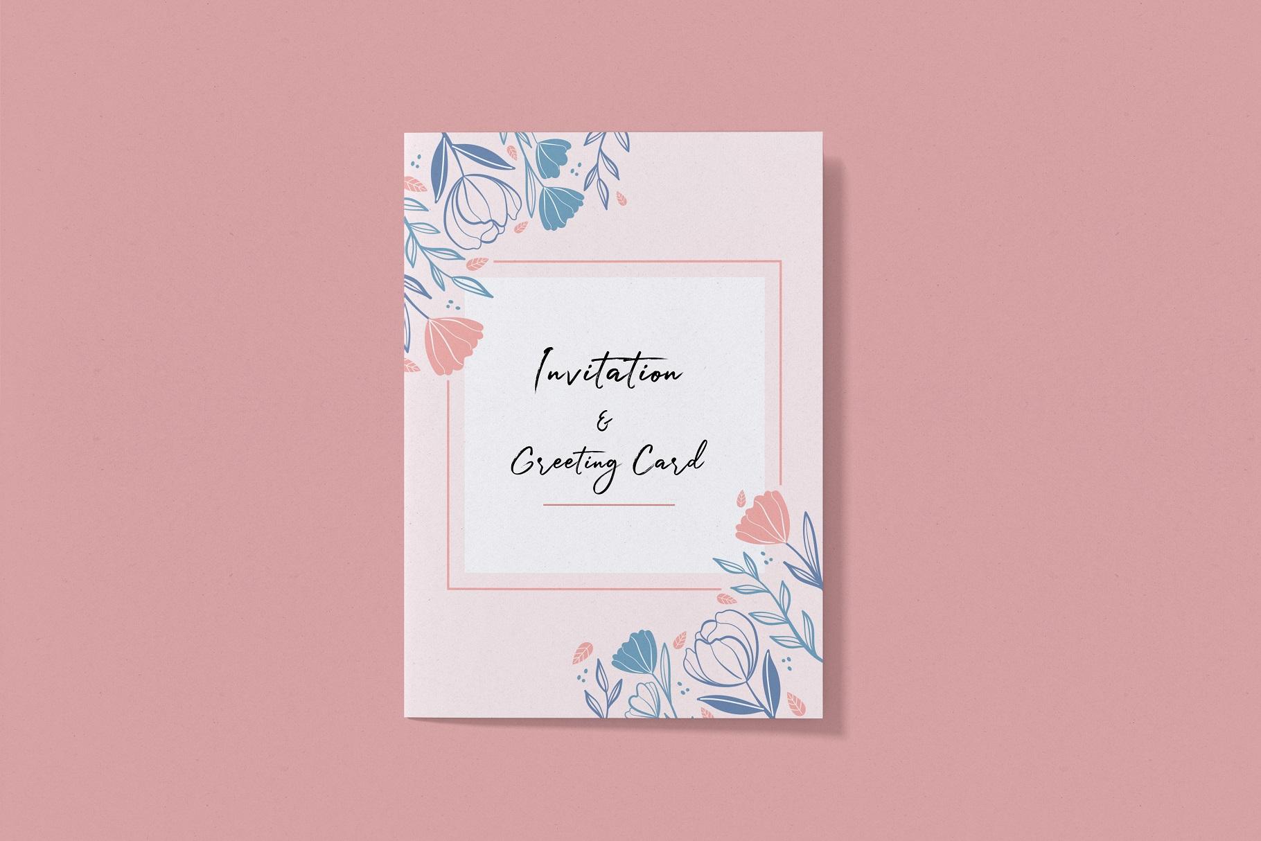 Invitation & Greeting Card Mockup example image 8