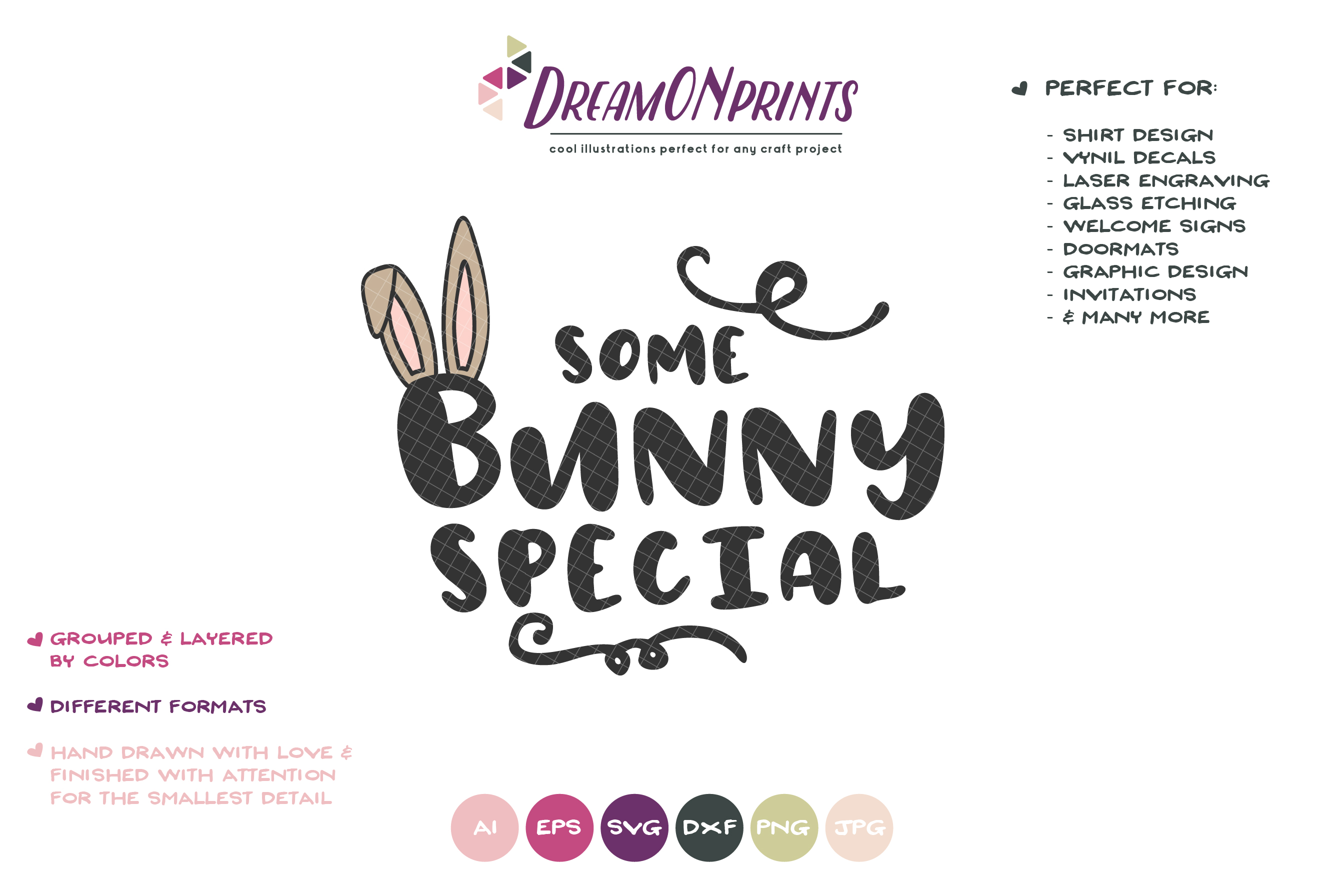 Some Bunny Special SVG - Bunny SVG Cut Files example image 2