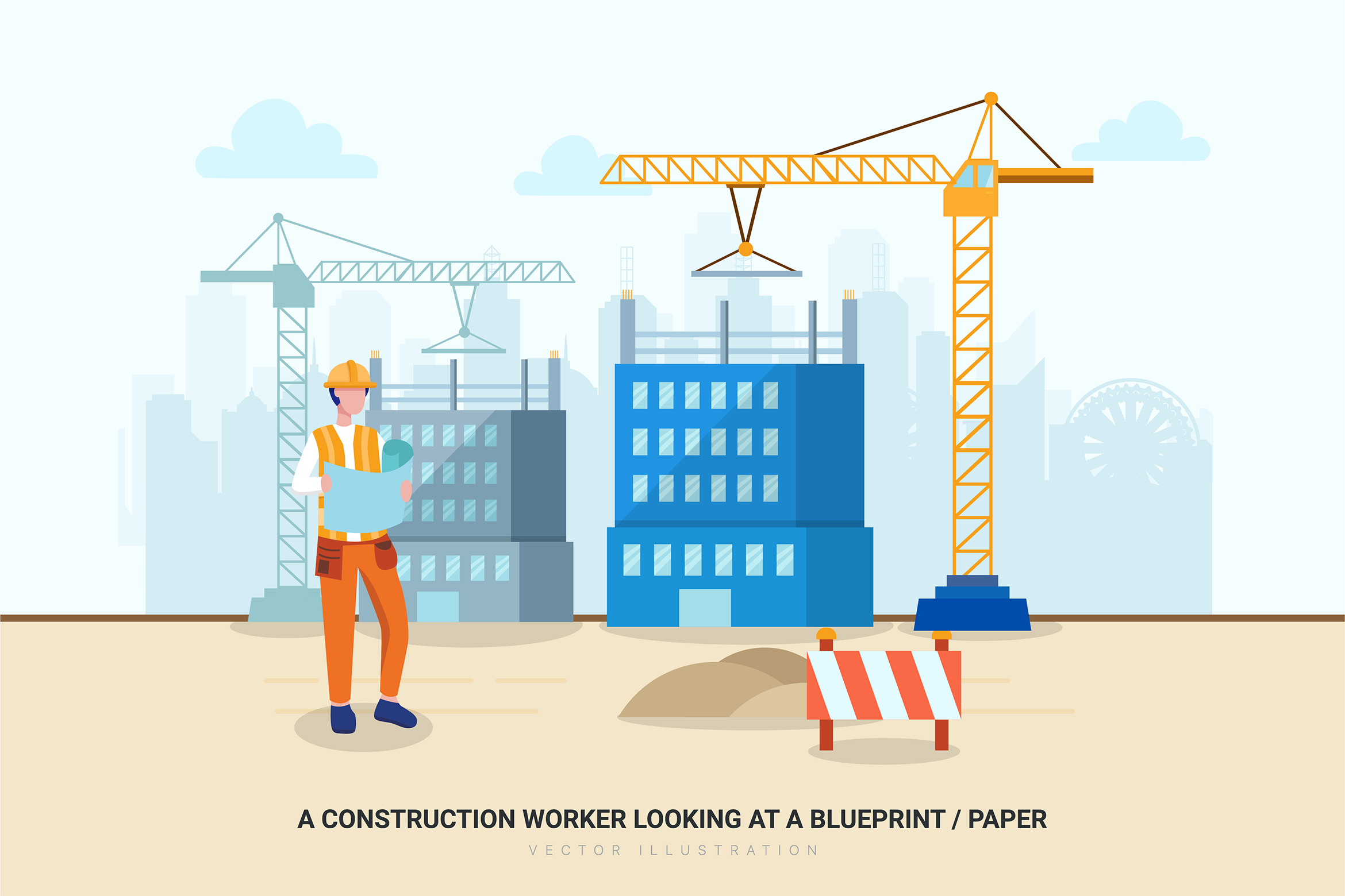 Construction & Real Estate Vector Illustration - Part 30 example image 4