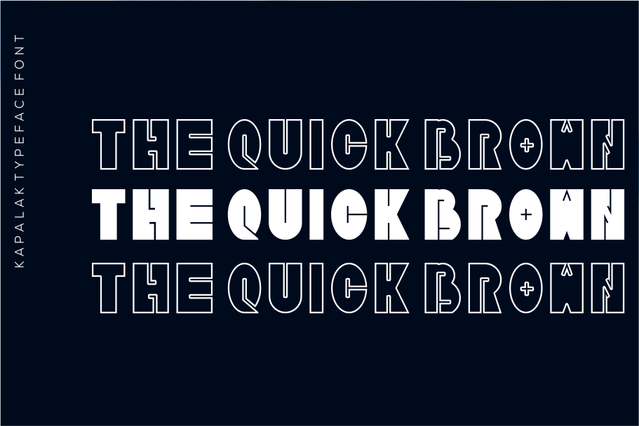 Kapalak font example image 2