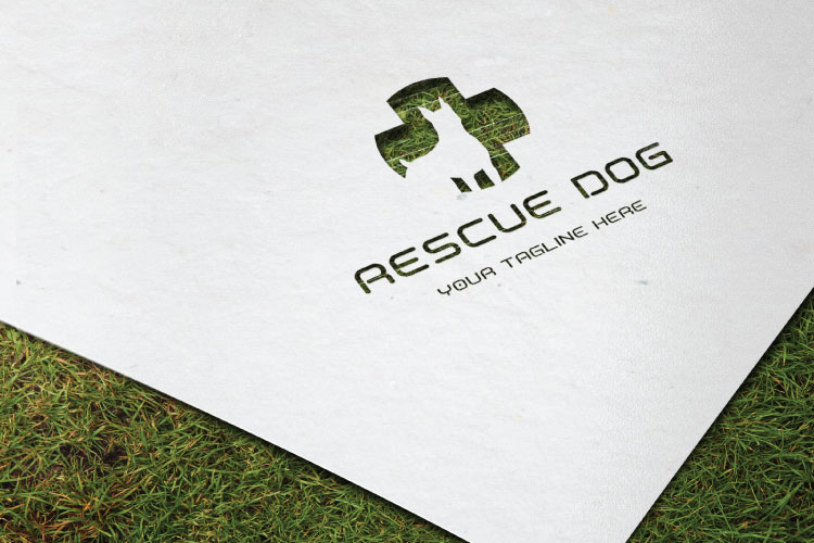 Dog in Plus Sign Logo example image 2