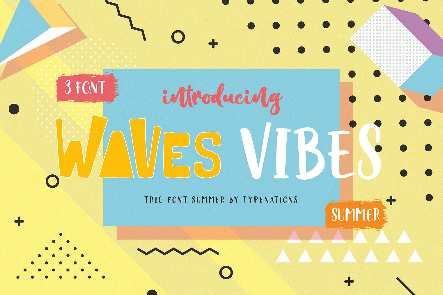 Waves Vibes Trio font example image 7
