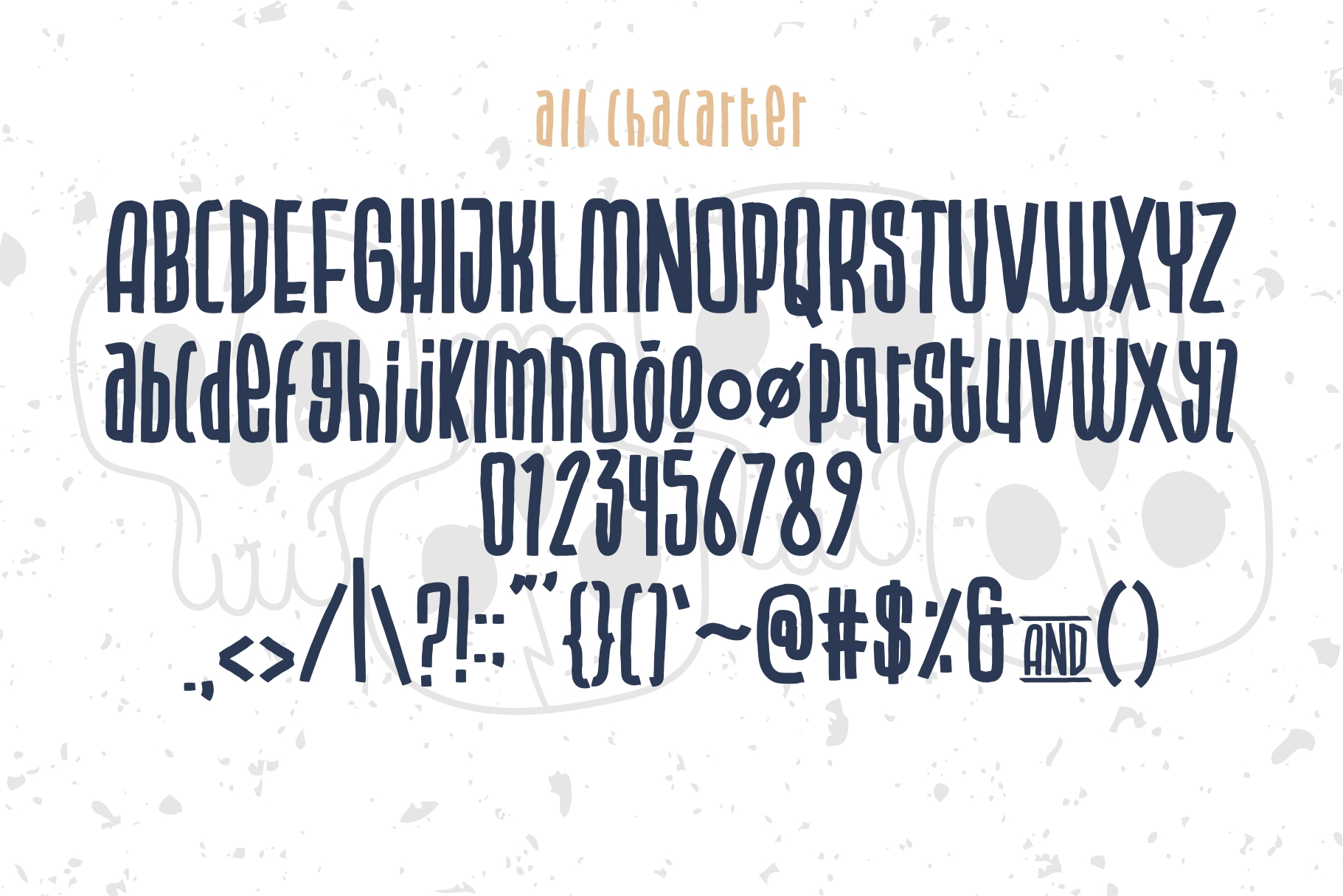 BLU CAPTAIN ROUGH FONT example image 3