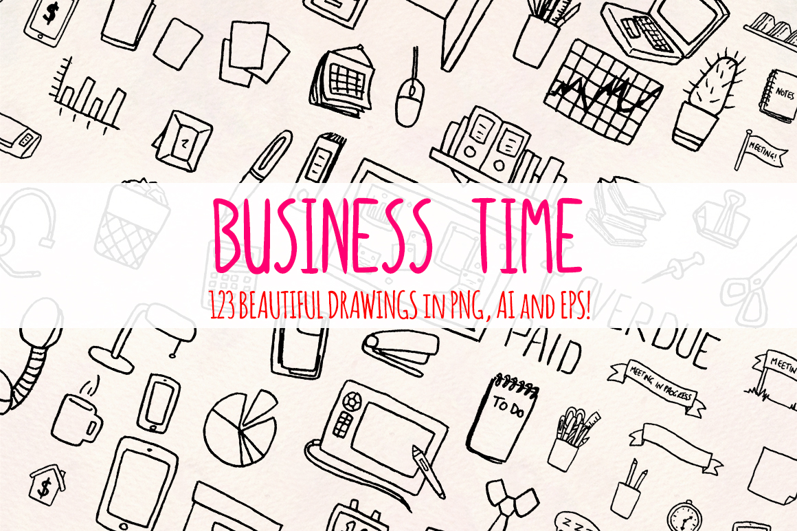 Over 120 Business and Office Vector Clipart Sketches example image 2