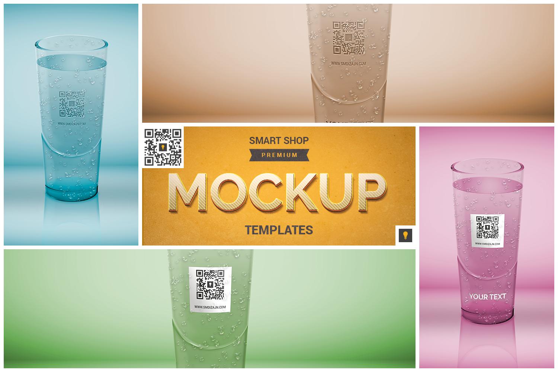 Logo Mockup on Translucent Glass example image 1