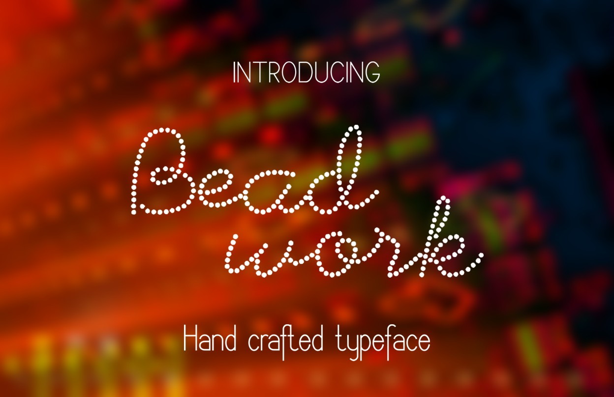 Beadwork font example image 1