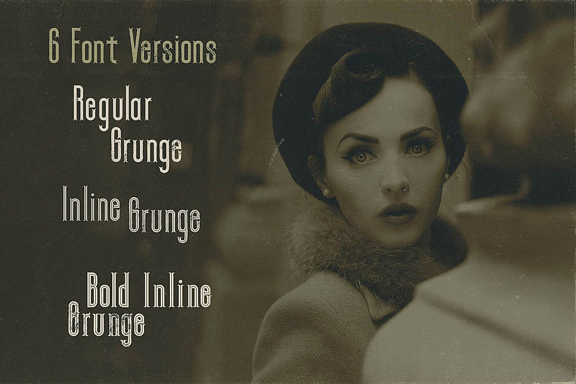 Zora - Vintage Display Font example image 2