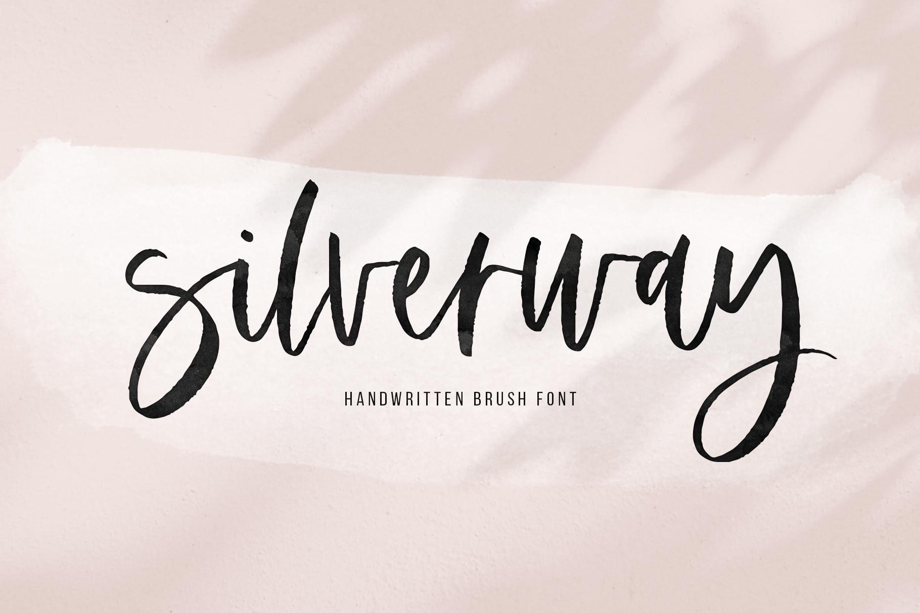 Silverway - A Modern Handwritten Script Font example image 1