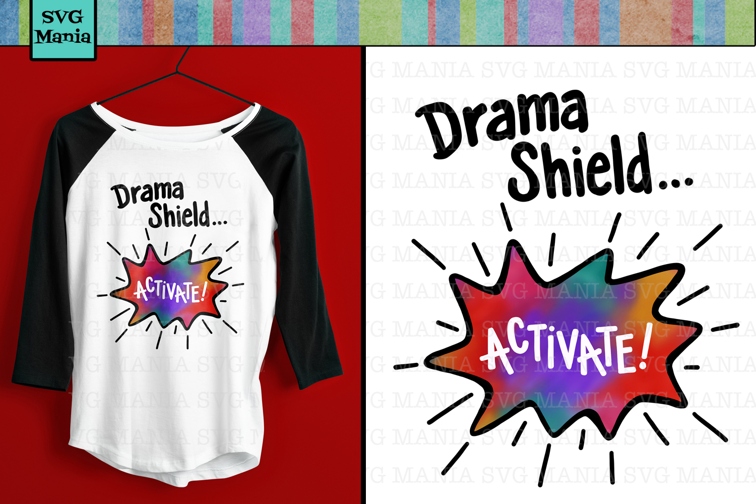 Drama Shield, Sublimation Design, Funny png for Sublimation example image 1