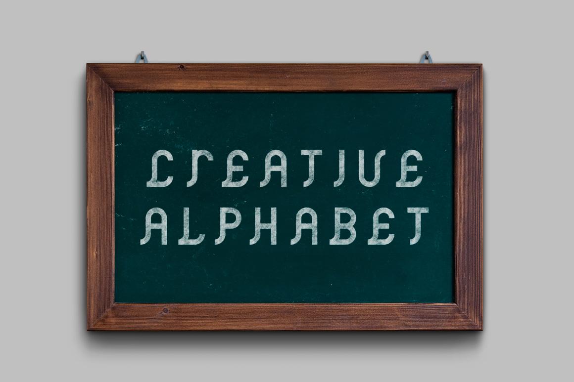 Vector ancient creative alphabet example image 3