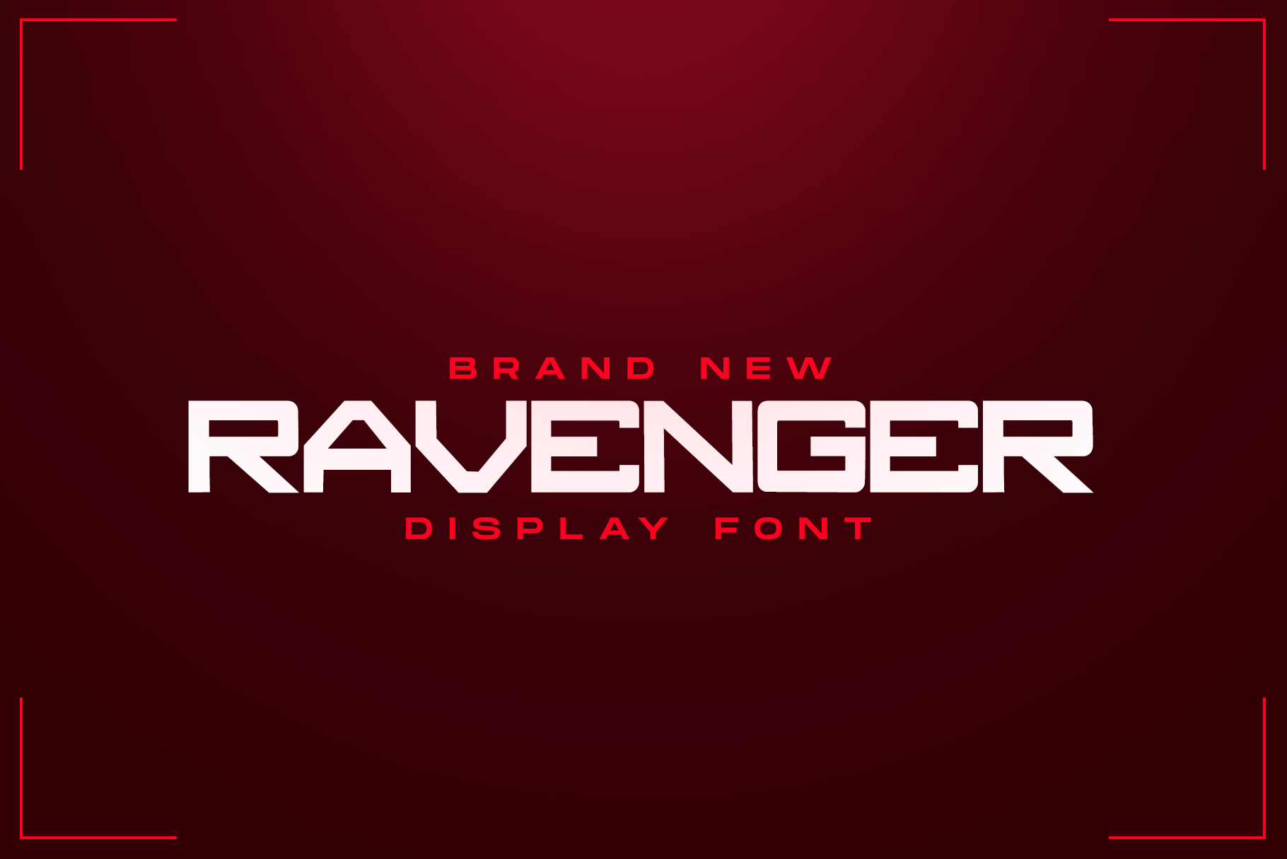 RAVENGER EXCLUSIVE DISPLAY FONT example image 1
