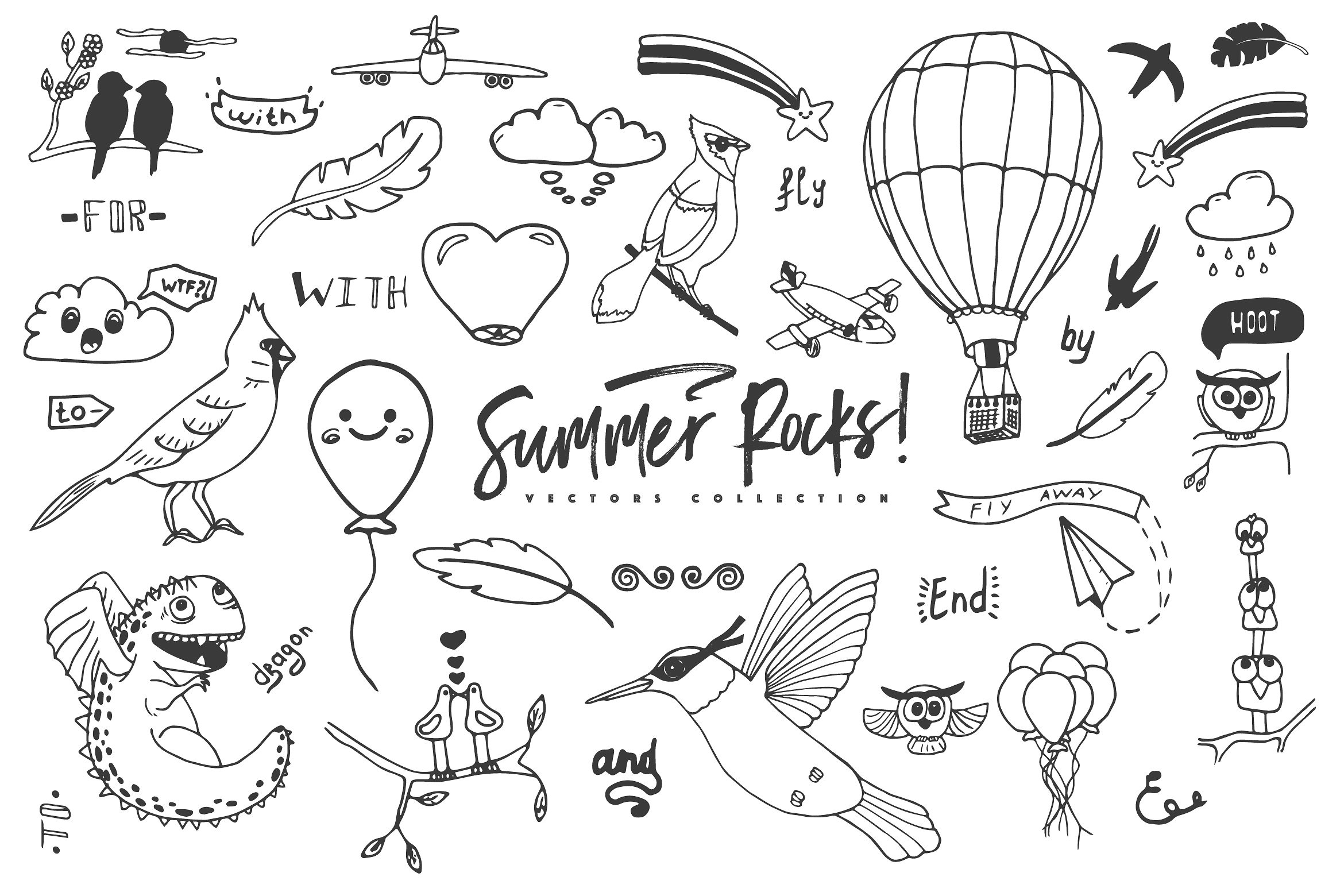 Summer Rocks! Vectors Collection example image 10