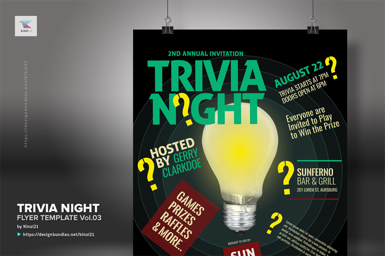 Trivia Night Flyer Template vol.03 example image 3