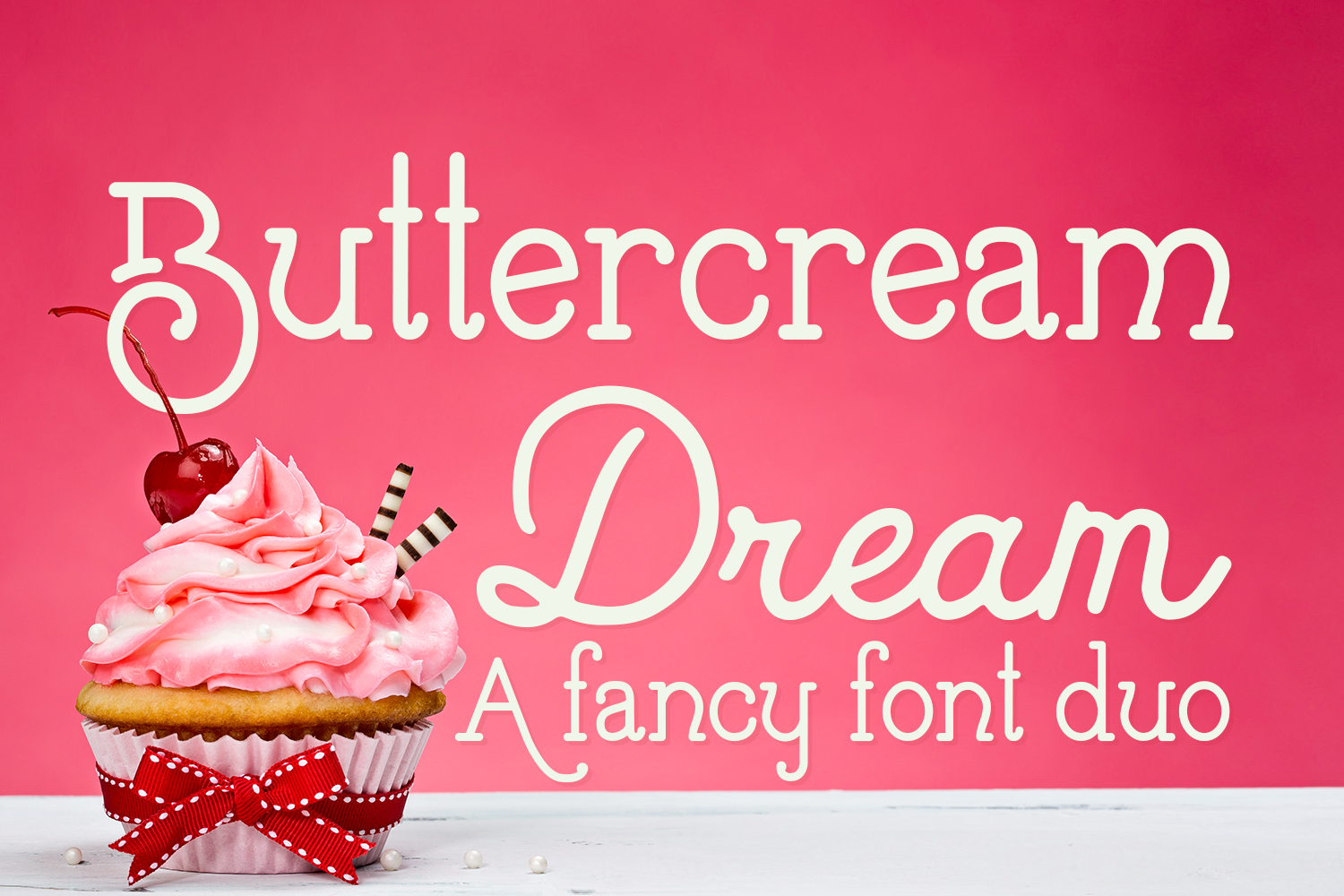 Buttercream Dream - A fancy font duo example image 1