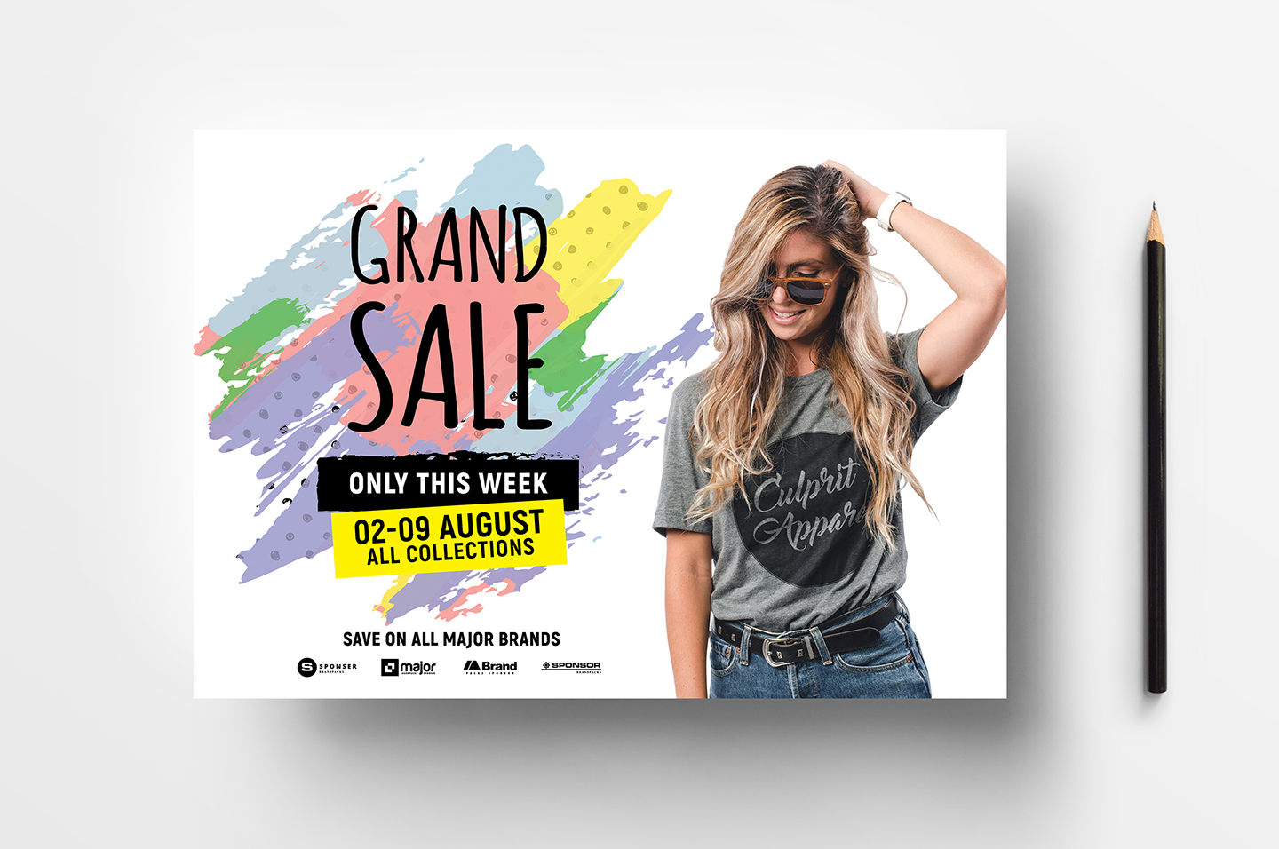 A4 Grand Sale Advertisement Templates example image 3