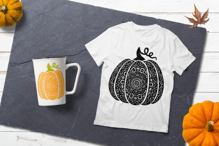 Scroll pumpkin svg. Bohemian fancy pumpkin example image 5