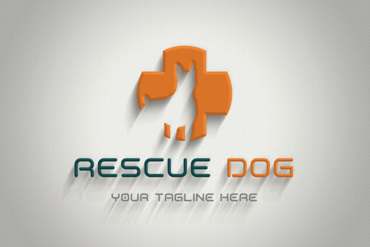 Dog in Plus Sign Logo example image 4
