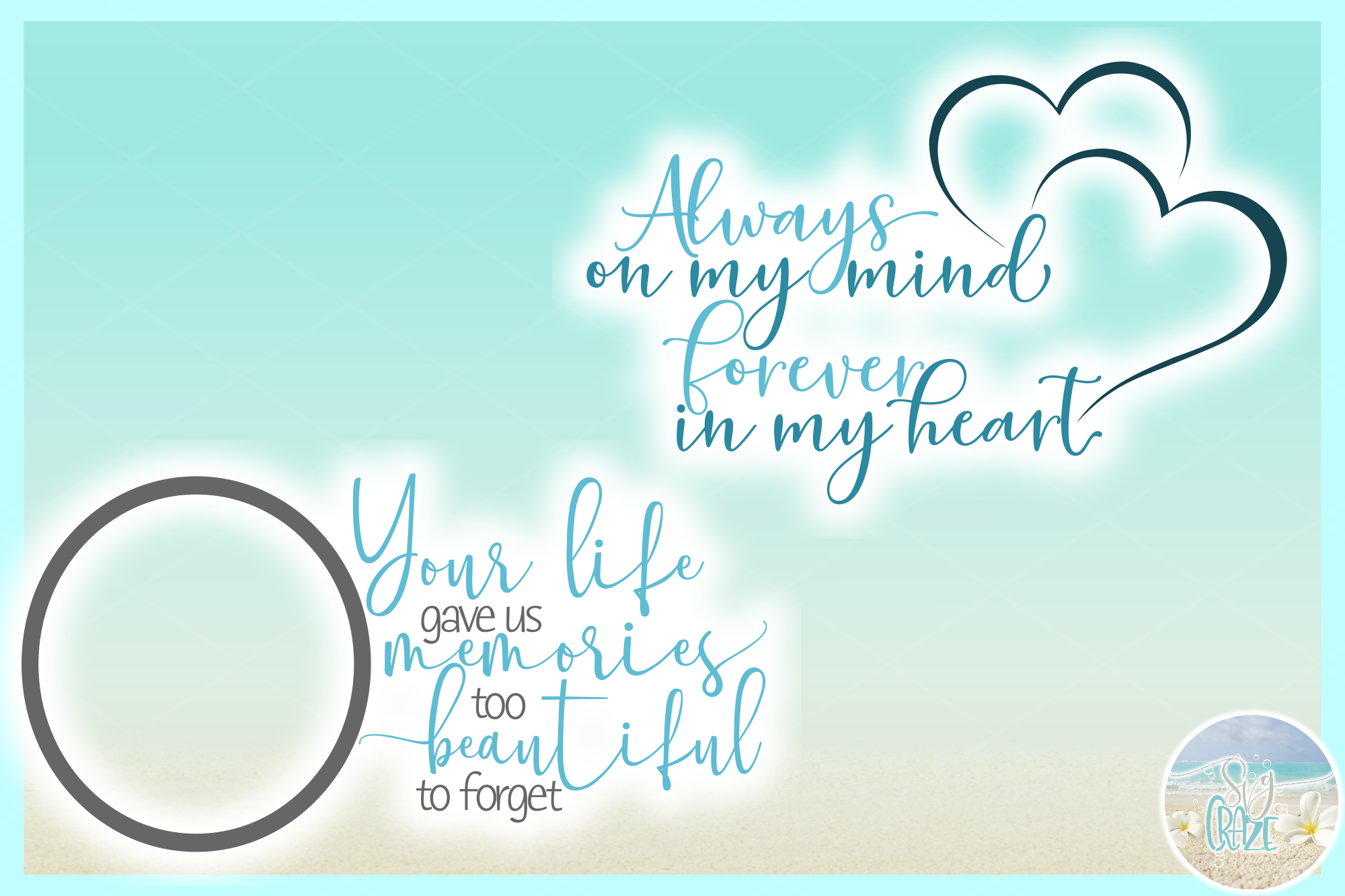 In Loving Memory Memorial Quote Bundle SVG DXF EPS PNG PDF example image 7