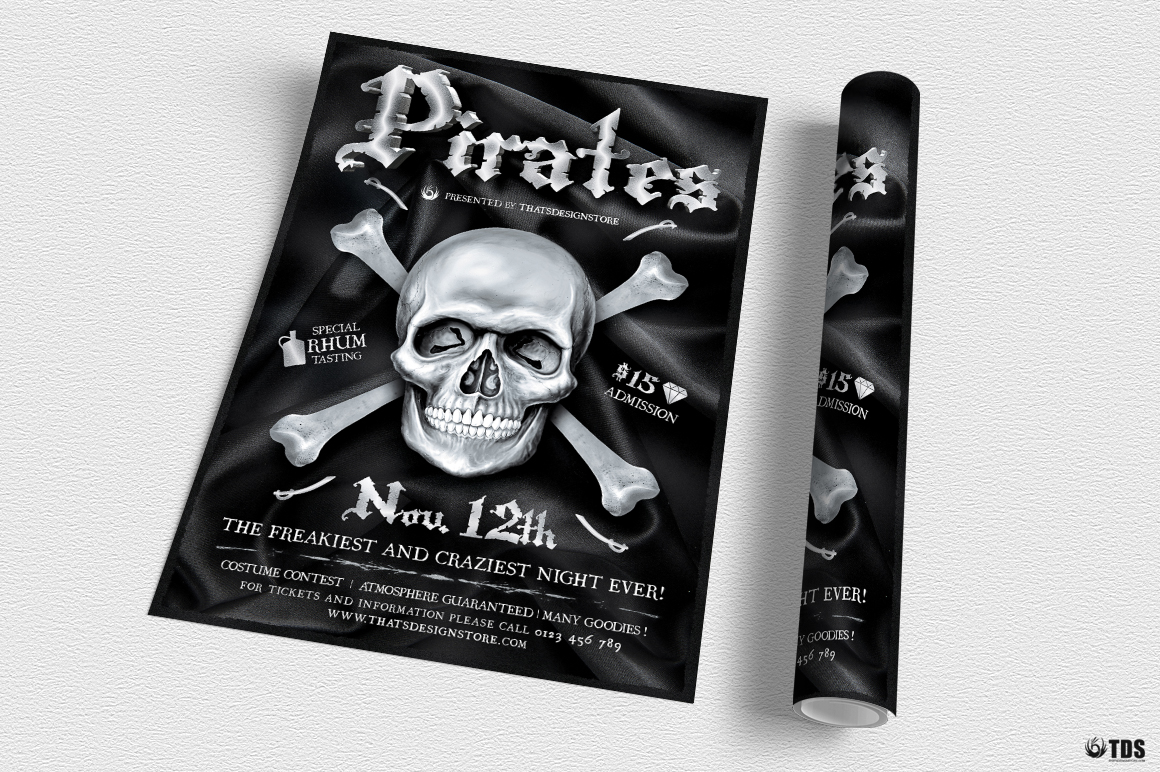 Pirates Party Flyer Template example image 3