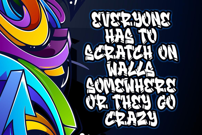 Streamzy - Graffiti Font example image 2