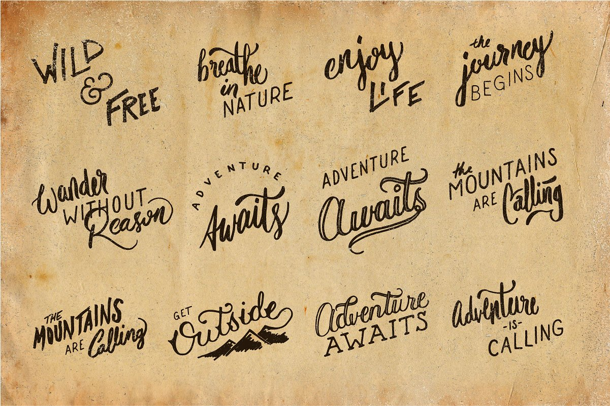 Adventure Lettering Illustrations example image 2