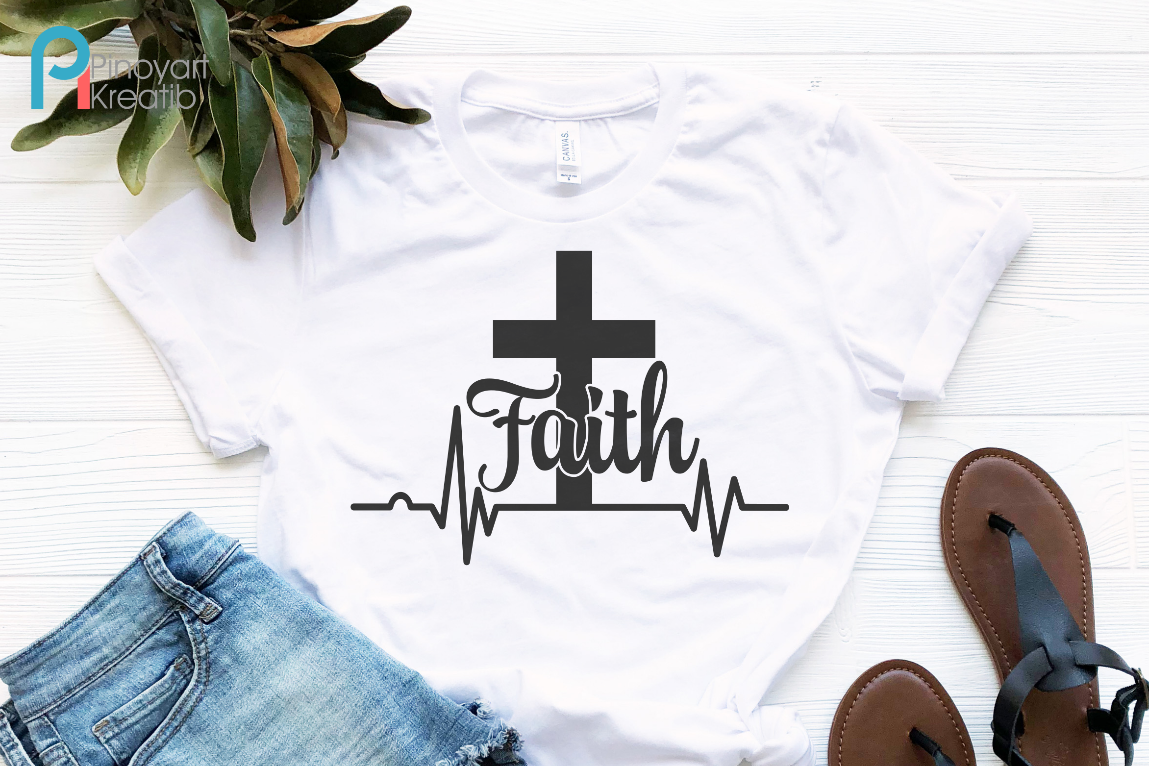 Faith Cross Svg - an easter vector file example image 1