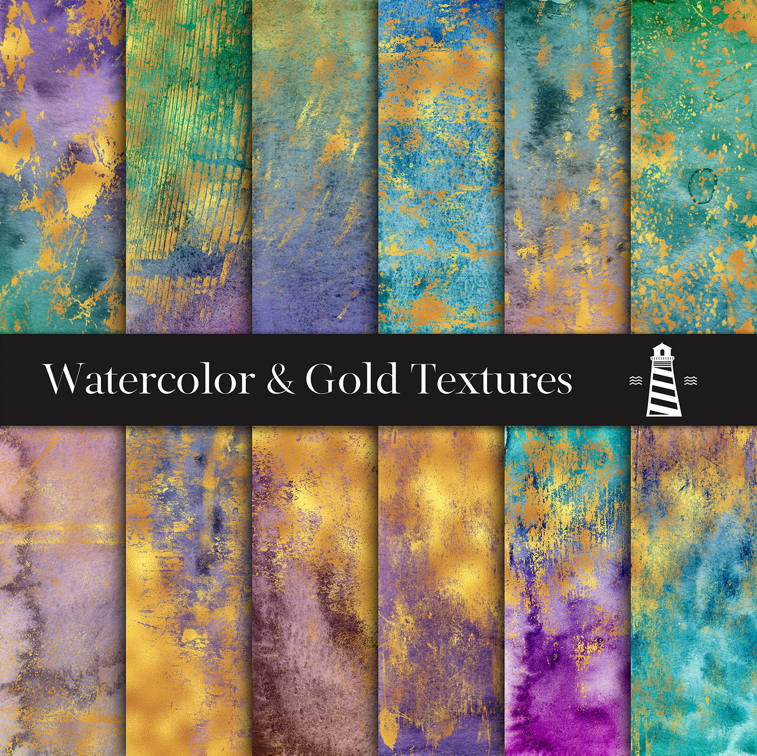Distressed Gold Textures example image 2